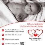 Aushang- Plakat Herz-Kinder-Hilfe Hamburg e.V.Web mit Kontaktdaten