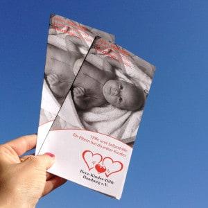 neue Flyer für die Herz-Kinder-Hilfe Hamburg e.V.