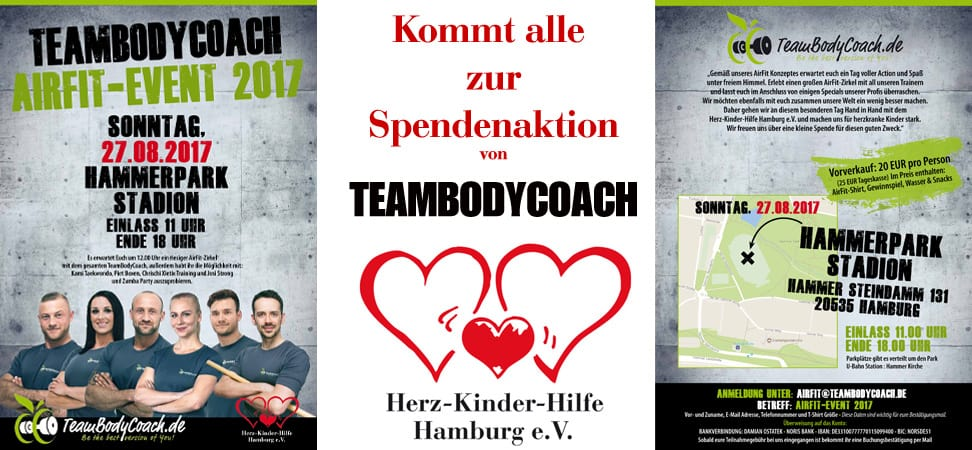 Teambodycoach Spendenaktion-Post