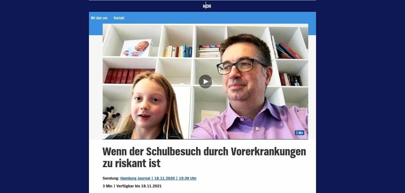 Screenshot NDR-Beitrag 18.11.2020