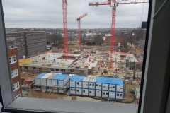 Vor dem Fenster: Großbaustelle Foto: Heyde